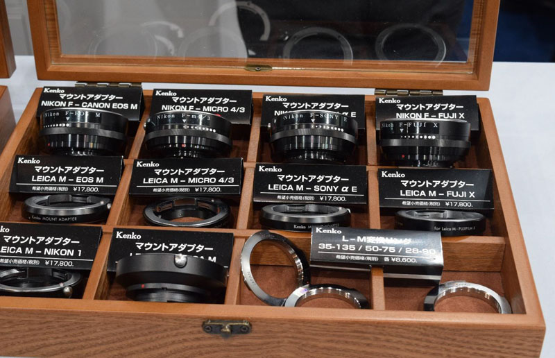 Kenko Mount Adapter full series display.