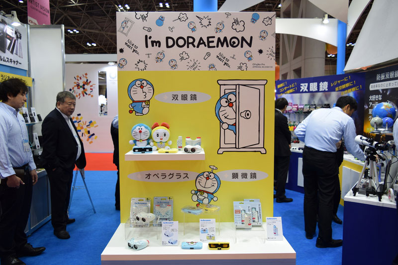 Last, but not least, two different corners hosted two special collaborations: a series of educational optical goods featuring the famous and beloved character DORAEMON..
