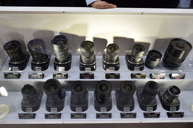 Tokina lenses display